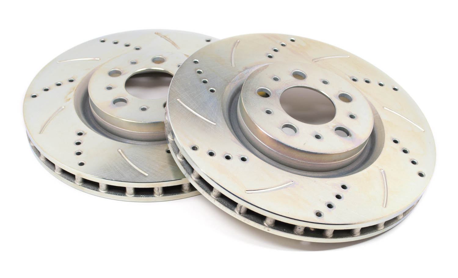 Volvo V70R S60R Drilled And Slotted Brake Rotors