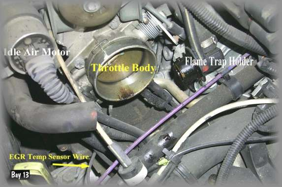 volvo 850 egr valve location