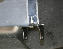 Back up light bracket