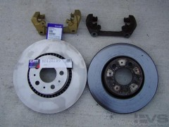 3 new n old rotor and brackets.JPG