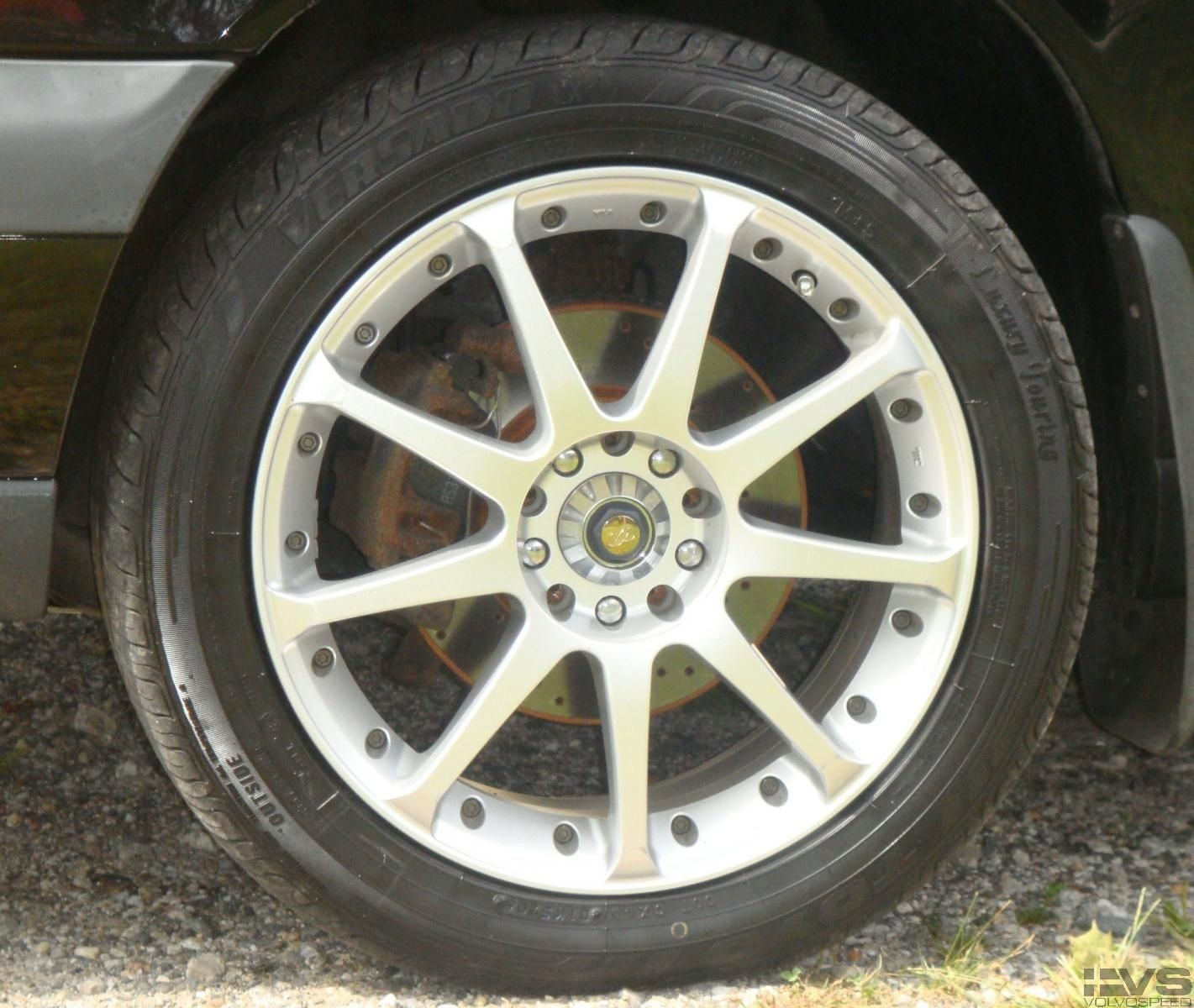 """17"""" Enkei CDR9 (also the sweet cross drilled brakes!)"""