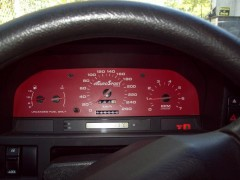 "SpeedHut gauge cluster in ""Blood Red"""