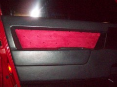 Custom suede Inserts installed on door panels