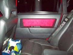 Custom suede Inserts installed on door panels diff angle
