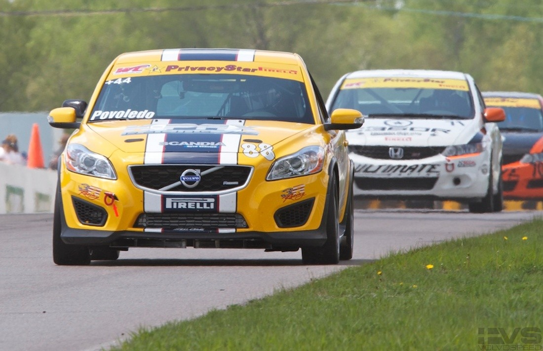 Volvo Race Cars At Mosport