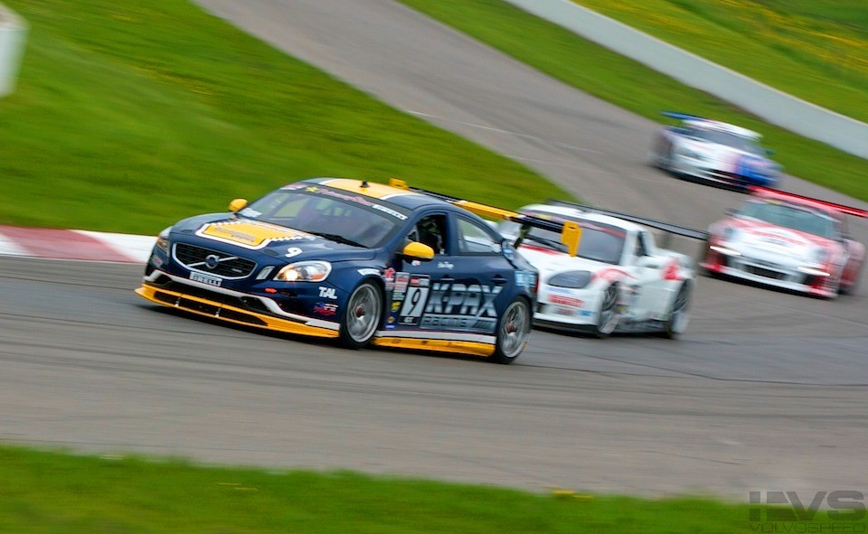 Volvo and porsche at Mosport World Challenge Race