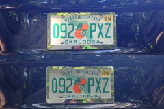 Tinted license plate
