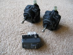 Headlights leveling switch + motors
